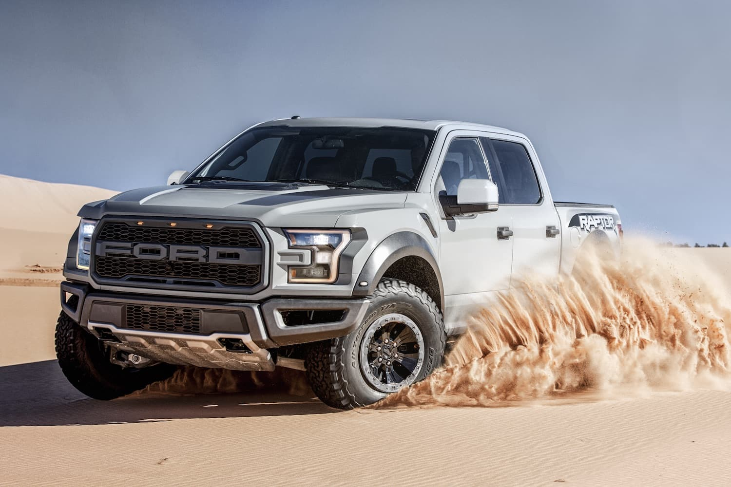 Ford F-150 Raptor Driving Off-Road in The Desert