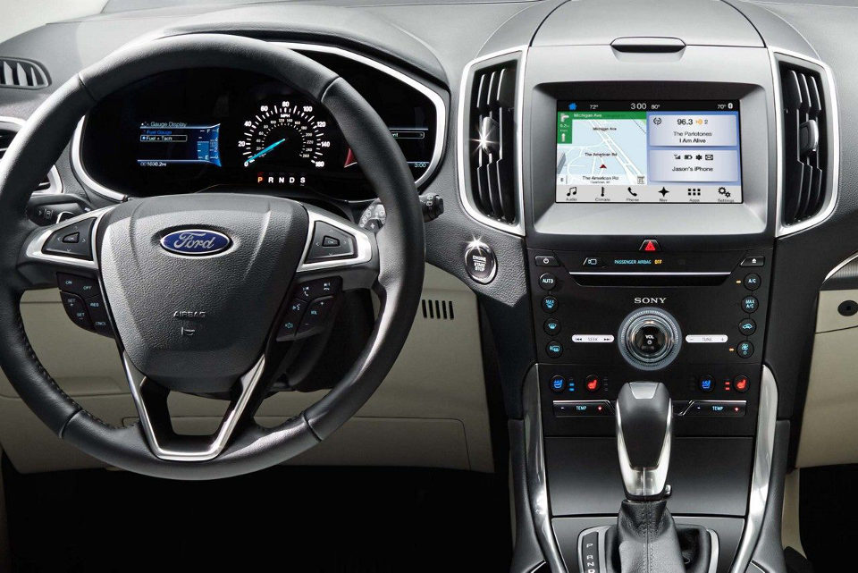 The Dashboard Of A  Ford Edge