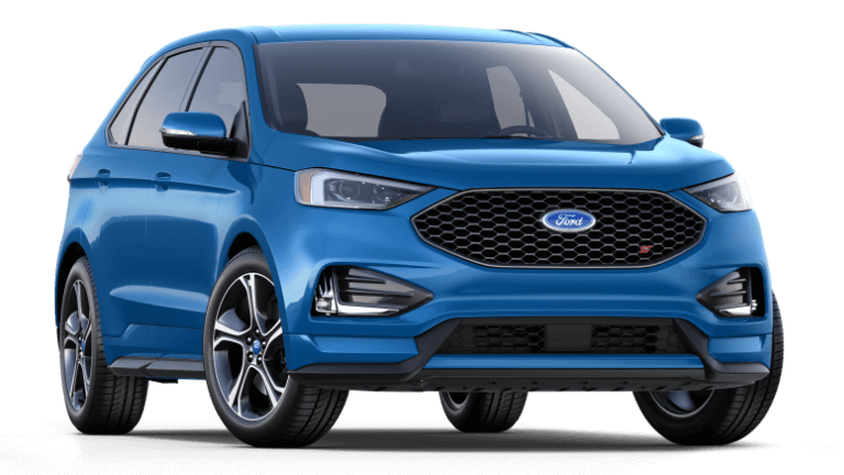 2019 Blue Ford Edge ST
