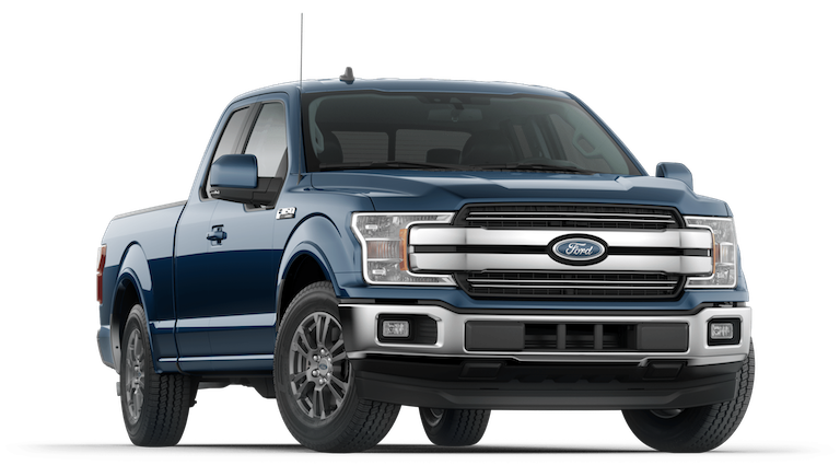 2018 Blue Ford F-150 Lariat