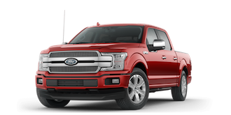 A red Ford F-150