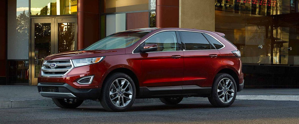 A Red  Ford Edge