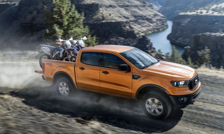 2019 Ford Ranger Towing Dirt Bikes