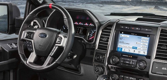 The interior of the 2018 Ford F-150