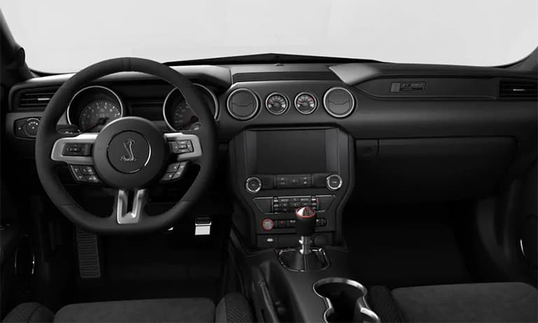 2019 Ford Mustang Shelby GT350 Black Leather Interior Dashboard