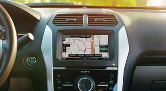 The Ford SYNC dashboard