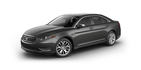 A black 2018 Ford Taurus Limited