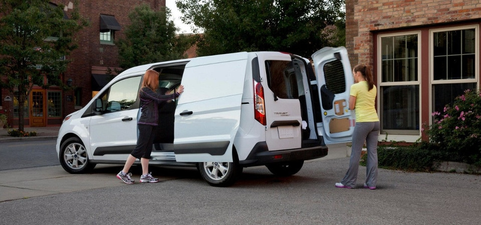 2017 Ford Transit Connect being loaded up with supplies