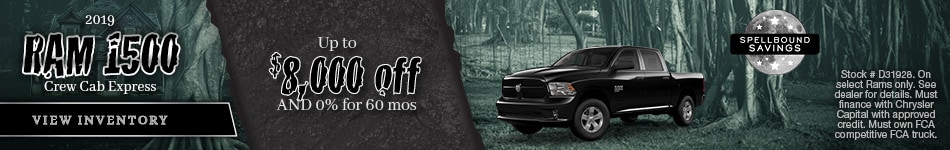 October 2019 Ram 1500 Express Offer