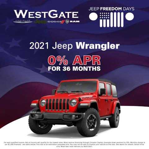2021 Jeep Wrangler - Jeep Freedom Days