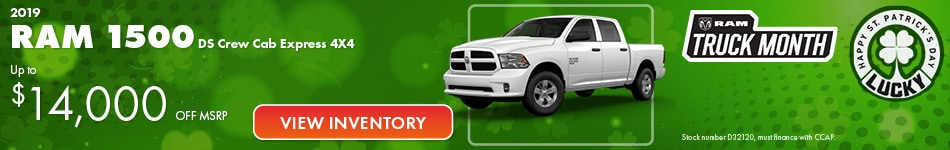 2019 Ram 1500 MSRP Offer