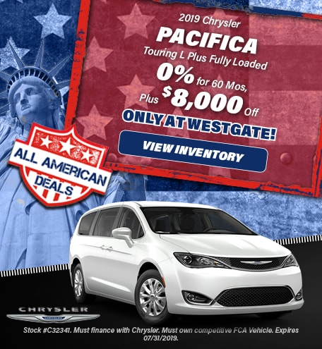 July 2019 - 2019 Chrysler Pacifica Touring L Plus Fully Loaded