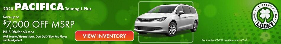 2020 Chrysler Pacifica MSRP Offer