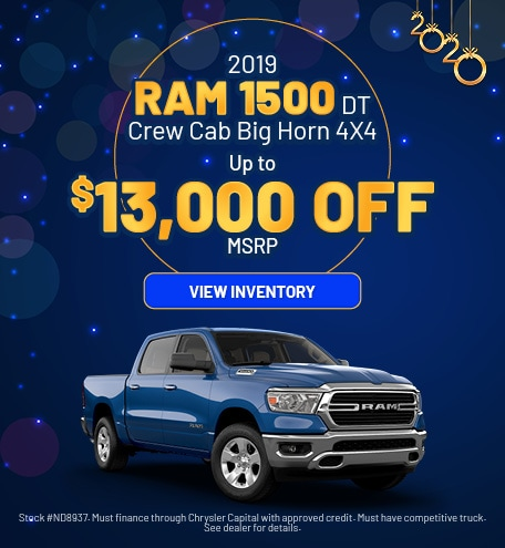 January 2019 Ram 1500 Big Horn Offer