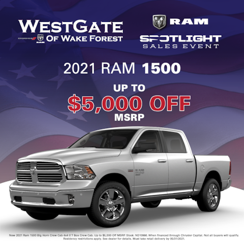 New 2021 Ram 1500 Special Offer
