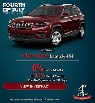 2020 Jeep Cherokee Latitude 4X4 - July