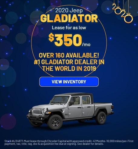 January 2020 Jeep Gladiator Offer