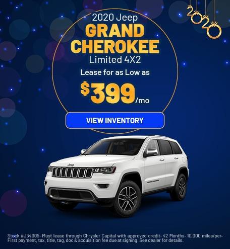 January 2020 Jeep Grand Cherokee Offer