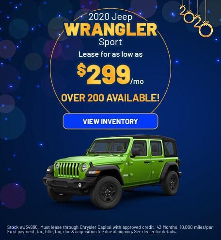 January 2020 Jeep Wrangler Offer