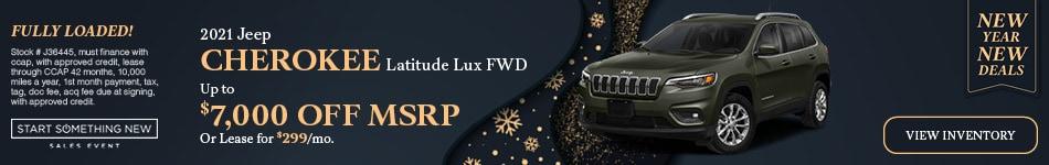 2021 Jeep Cherokee Latitude Lux FWD - Jan