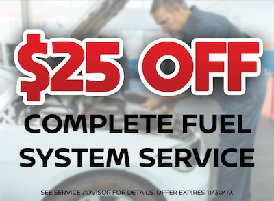 $25 Off Fuel System Service