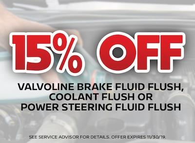 15% Off Fluid Flush Special