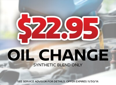 $22.95 Oil Change Special