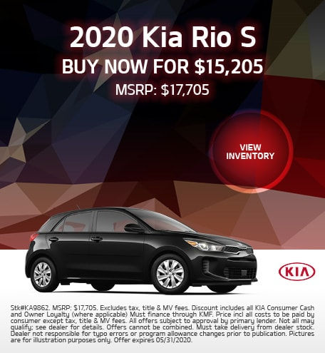 2020 Kia Rio Offer - May