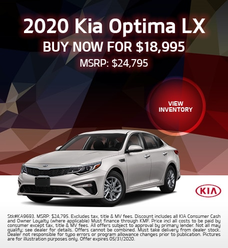 2020 Kia Optima Offer - May