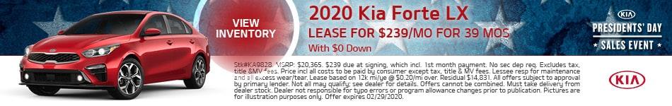 February 2020 Kia Forte LX