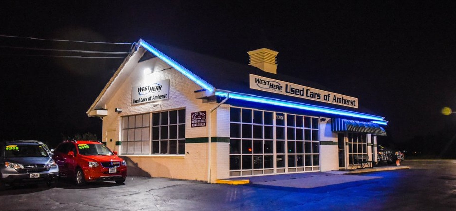 West Herr Used Cars of Amherst, dealership exterior