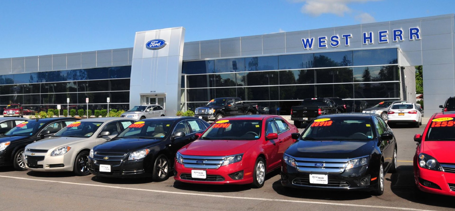 West Herr Ford Amherst outside the dealership