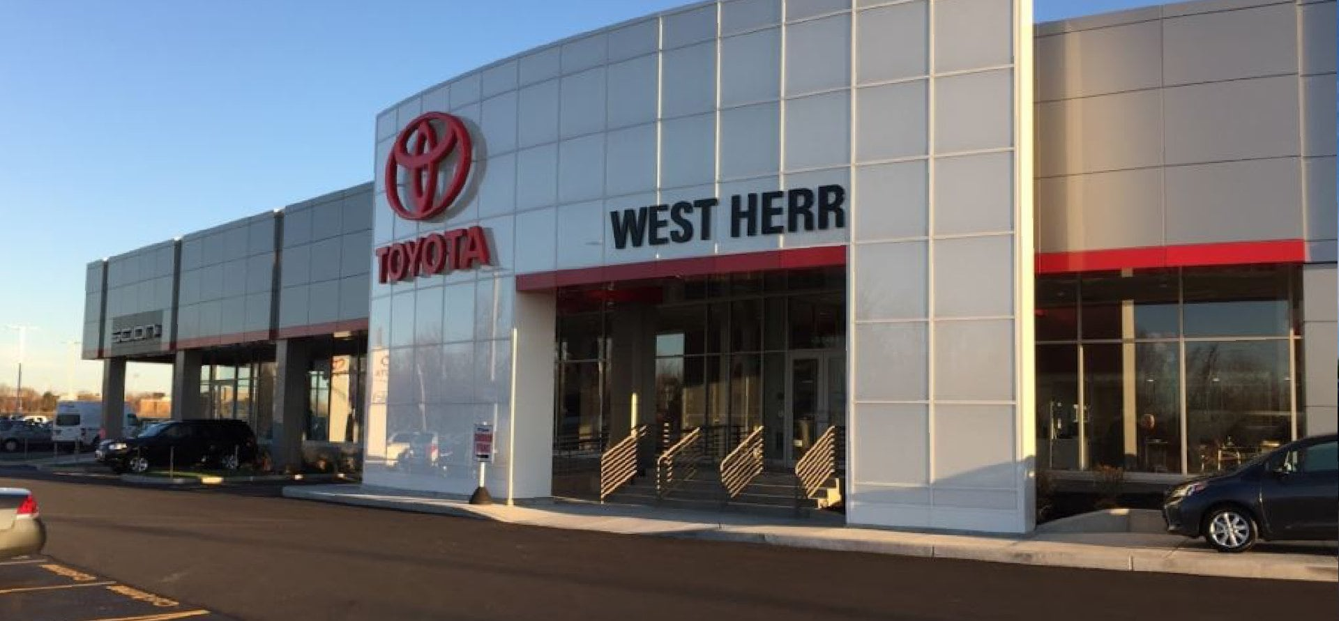 West Herr Toyota Scion of Orchard Park, dealership exterior