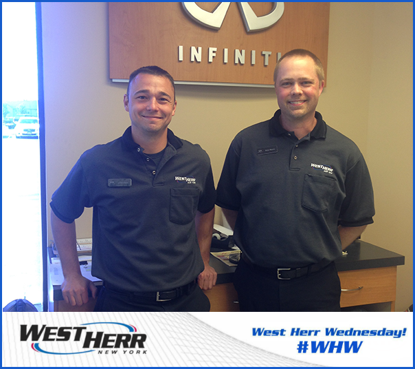 West Herr Toyota >> West Herr Wednesday: Our Dynamic Infiniti Service Duo | West Herr Auto Group