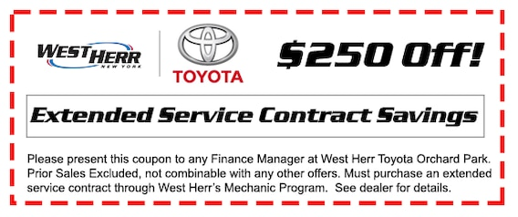 West Herr Toyota >> Extended Service Contracts West Herr Toyota Of Orchard Park