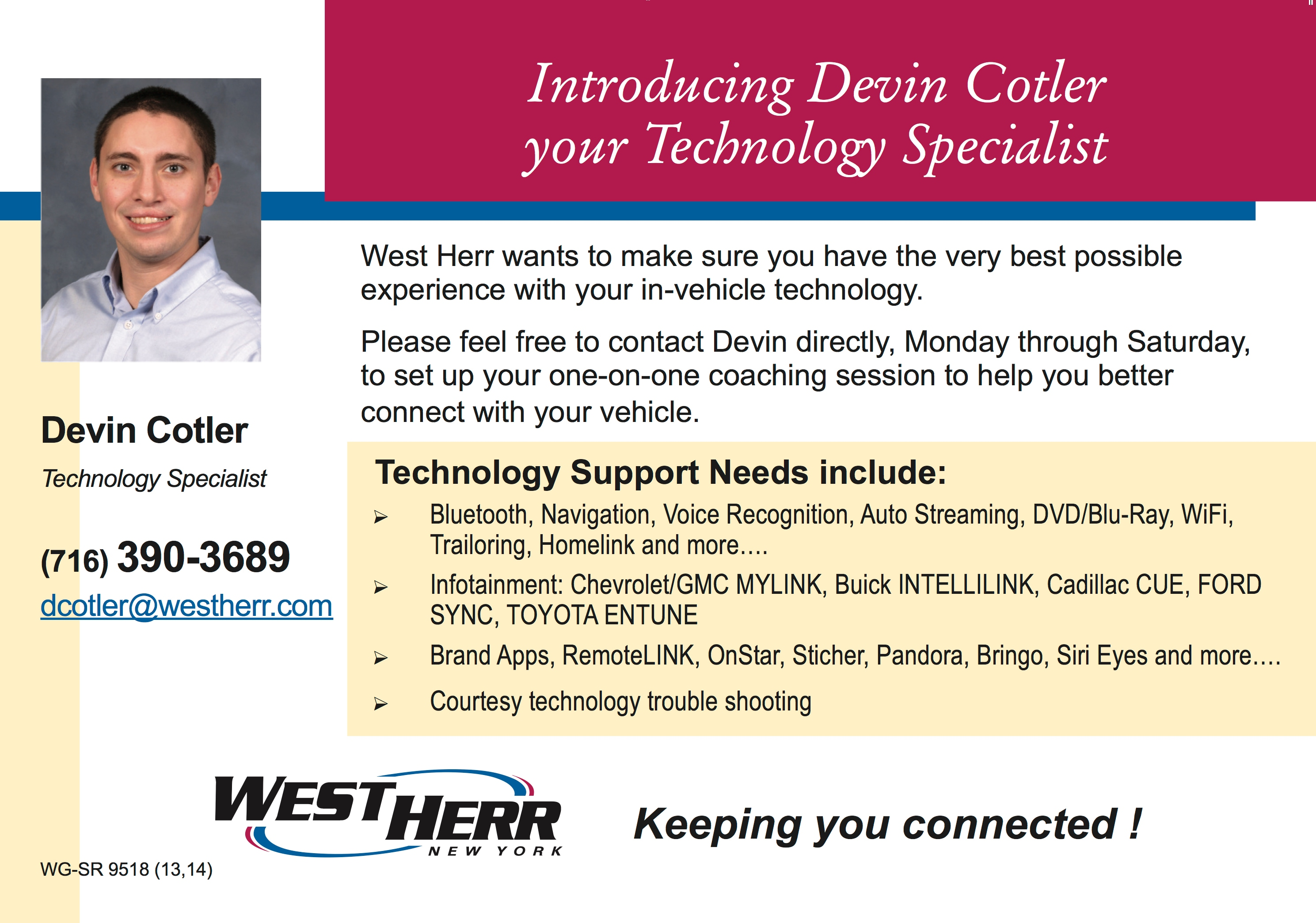 Tech Specialist West Herr Used Car Outlet
