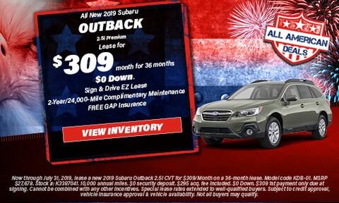 All New 2019 Subaru Outback 2.5i Premium