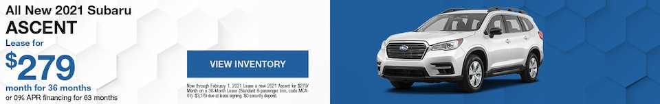 All New 2021 Subaru Ascent