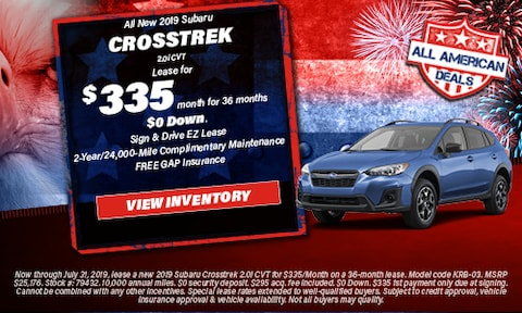 All New 2019 Subaru Crosstrek 2.0i CVT