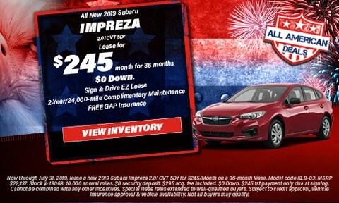 All New 2019 Subaru Impreza 2.0i CVT 5Dr