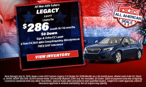 All New 2019 Subaru Legacy 2.5i CVT