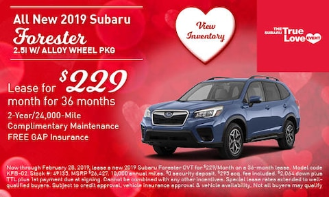 All New 2019 Subaru Forester 2.5i