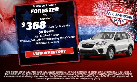 All New 2019 Subaru Forester CVT