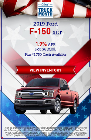 2019 Ford F-150 XLT - May