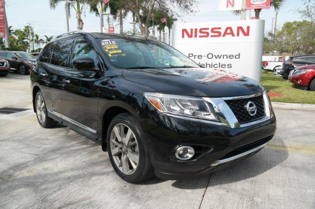 Pre-Owned Featured 2015 Nissan Pathfinder 2WD 4dr Platinum Sport Utility for sale near you in Davie, FL