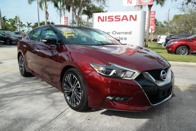 Pre-Owned Featured 2016 Nissan Maxima 4dr Sdn 3.5 Platinum Car for sale near you in Davie, FL