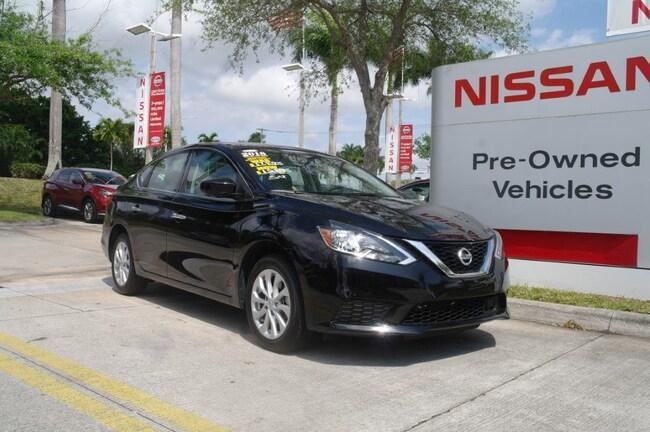 certified used 2018 Nissan Sentra SV CVT Car for sale in Ft Lauderdale