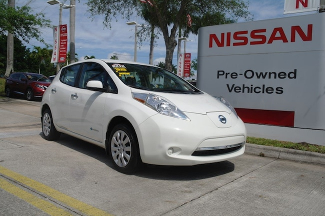 certified used 2016 Nissan Leaf 4dr HB S *Ltd Avail* Car for sale in Ft Lauderdale