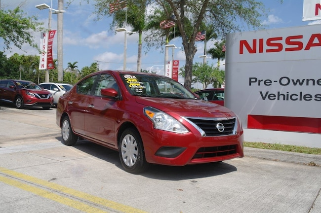 certified used 2018 Nissan Versa SV CVT Car for sale in Ft Lauderdale