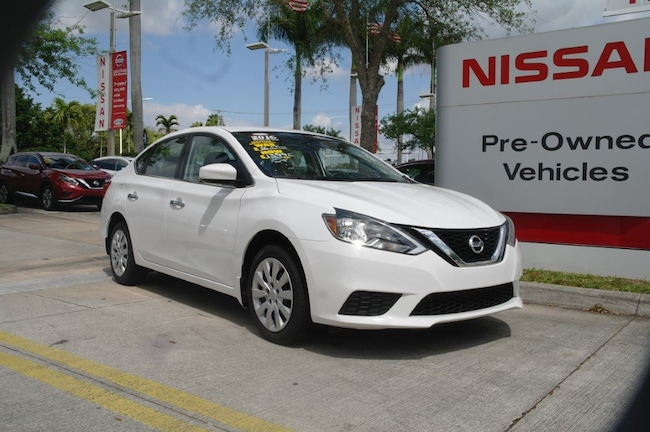 certified used 2016 Nissan Sentra 4dr Sdn I4 CVT SV Car for sale in Ft Lauderdale